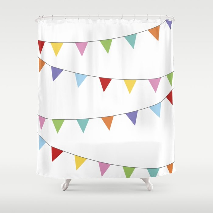 Rainbow shower curtain